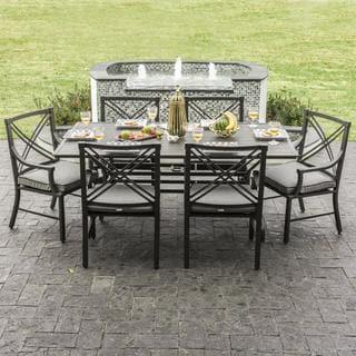 Audubon Grey Aluminum 6-person Patio Dining Set