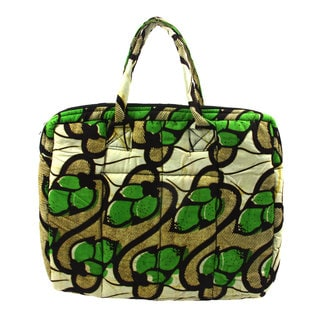 Lime Light Kitenge Fabric Laptop Bag
