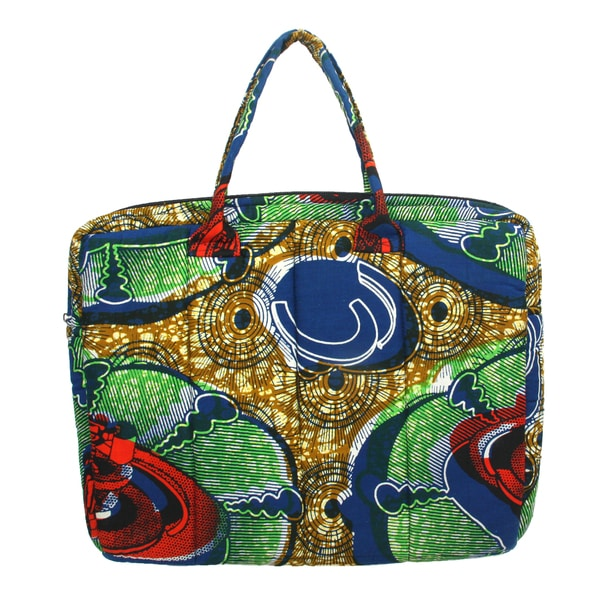 Kinetic Energy Kitenge Fabric Laptop Bag