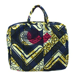 Checkmark Kitenge Fabric Laptop Bag