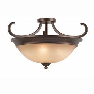 Lumenno Athens Collection Convertible 3-light Bronze Semi Flush Mount/Pendant