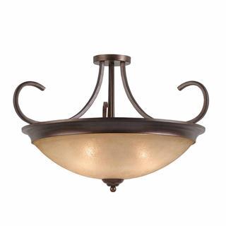 Lumenno Athens Collection Convertible 4-light Bronze Semi Flush Mount/Pendant