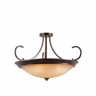 Lumenno Athens Collection Convertible 10-light Bronze Semi Flush Mount/Pendant