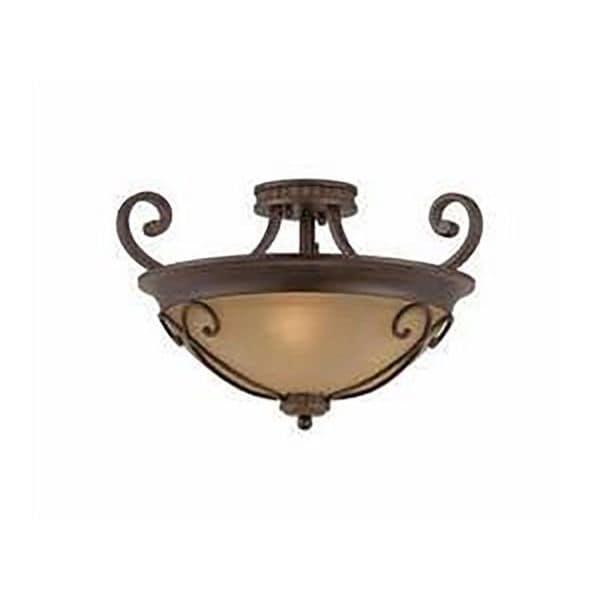 Lumenno Budapest Collection 3-light Bronze Semi Flush Mount
