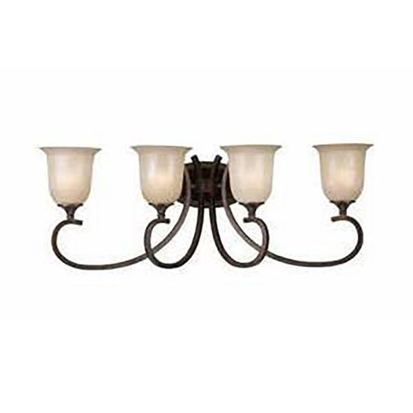 Lumenno Athens Collection 4-light Bronze Bath/Vanity Light