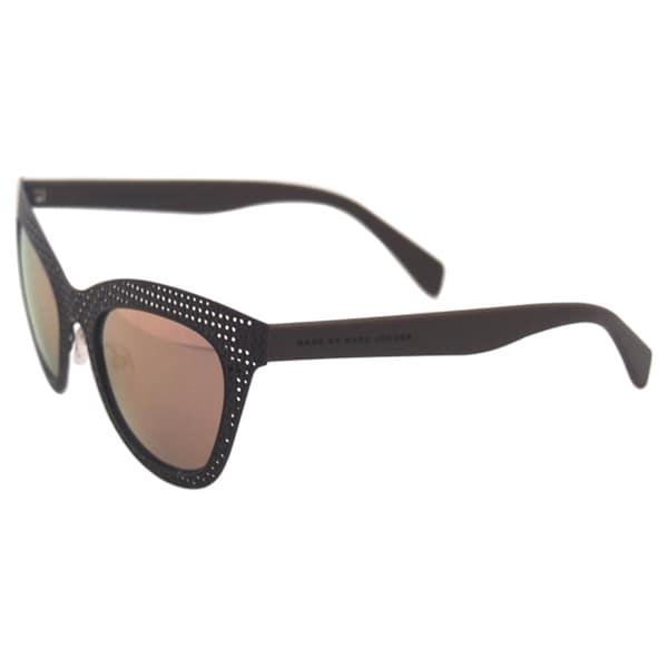 Marc by Marc Jacobs Womens MMJ 435 KUB Mud Grey Rose Metal Basket Weave Cat Eye Sunglasses