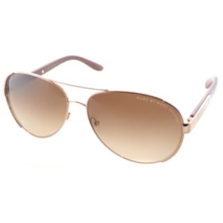 Marc by Marc Jacobs Unisex MMJ 378 1RT Gold And Red Metal Aviator Sunglasses