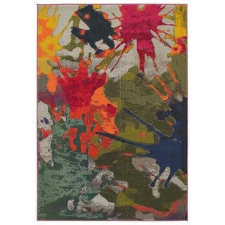 Jubilee Multi Paint Splatter Area Rug (7'8 x 9'8)
