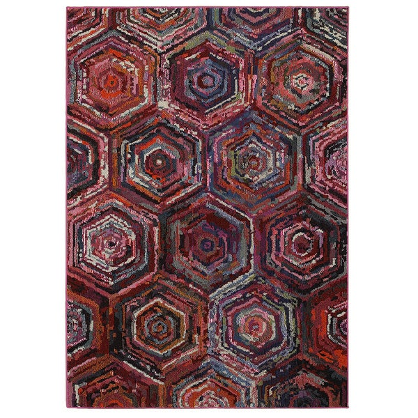 Jubilee Multi Rectangle 5ft x 7ft 5 inch Indoor Area Rug