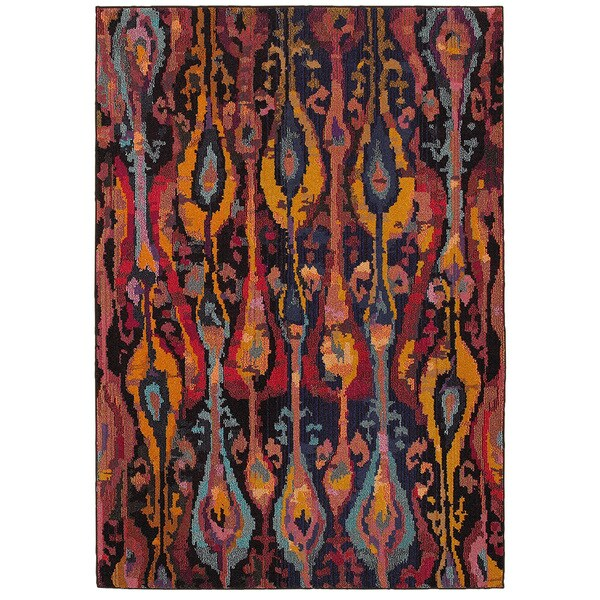 Jubilee Multi Rectangle 7ft 8inch x 9ft 8 inch Indoor Area Rug