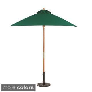 Oxford Garden Square 6-foot Sunbrella Market Umbrella Wood