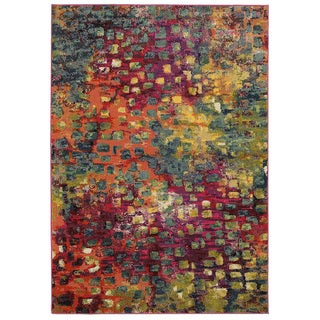 Jubilee Multi-colored Abstsract Area Rug (7'8 x 9'8)
