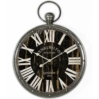 Pendant Iron Wall Clock with Ring and Glass Lens