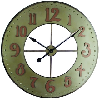 Circular Iron Wall Clock Made of Durable Iron