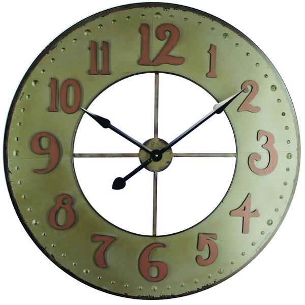 Circular Iron Wall Clock Made of Durable Iron