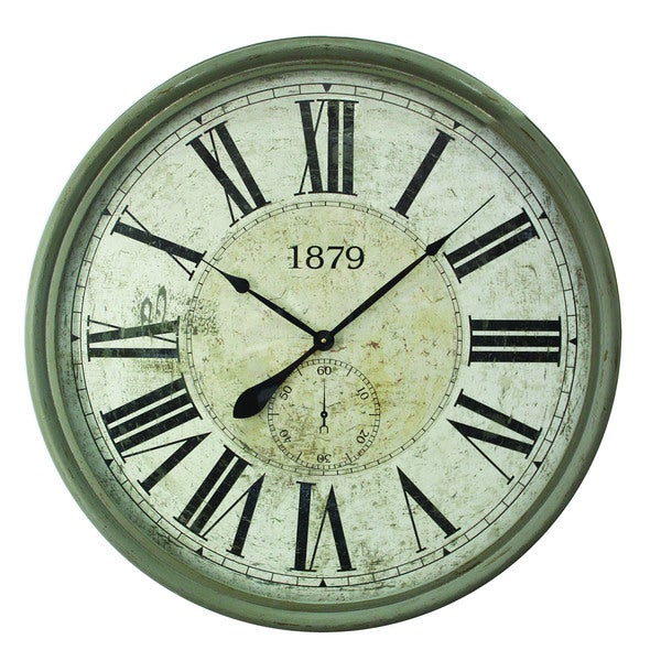 Contemporary Circular MDF Wall Clock with Glass