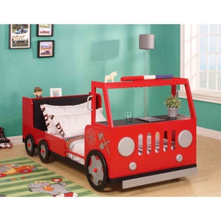 =Fifer Youth Red and Silver Fire Truck Twin Bed