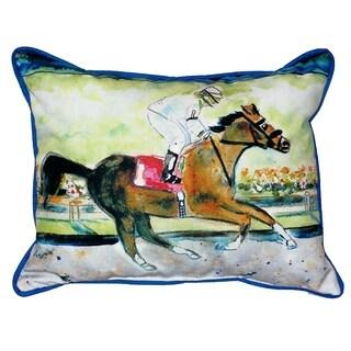 Racing Horse 16s20-inch Indoor/Outdoor Pillow