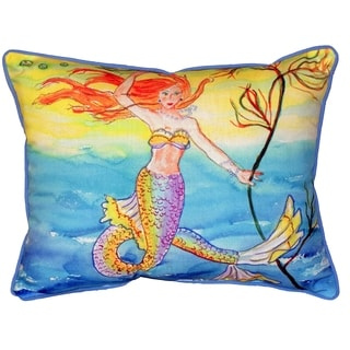Betsy's Mermaid 16x20-inch Indoor/Outdoor Pillow