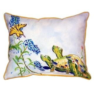 Turtles & Butterfly 16x20-inch Indoor/Outdoor Pillow