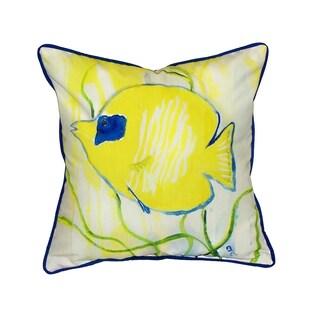 Yellow Tang 18-inch Indoor/Outdoor Pillow