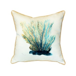 Blue Coral 18-inch Indoor/Outdoor Pillow