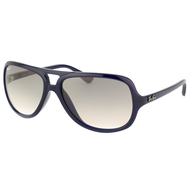 Ray Ban Mens RB 4162 629/32 Dark Blue Plastic Aviator Sunglasses 15050552