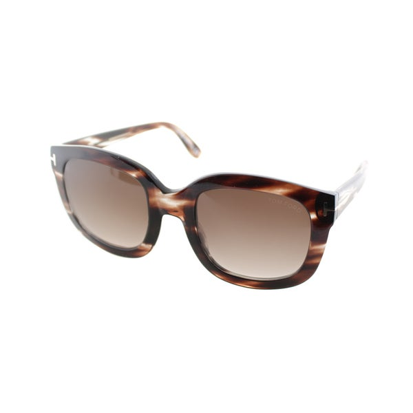 Tom Ford Womens TF 279 Christophe 49F Brown Marble Plastic Sunglasses