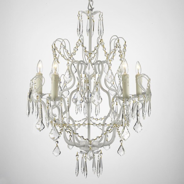 Gallery Versailles Wrought Iron And Crystal Swag Plug In 5