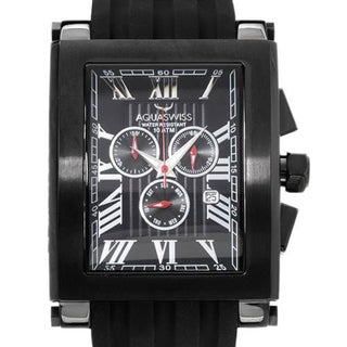 TANC Black Rubber Chronograph Watch (As Is Item)