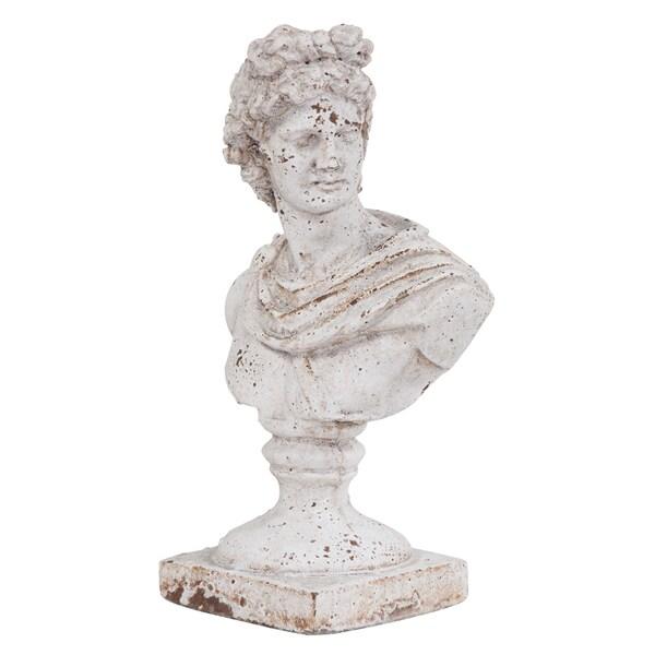 Old World Ceramic Female Ceramic Bust