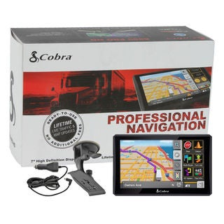 Cobra 8200-PRO-HD 7-inch Professional Commercial Truck Navigation GPS with Live Traffic and Lifetime Map Updates