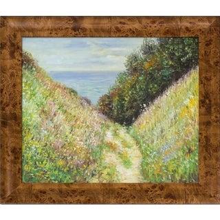 Claude Monet Path at La Cavee, Pourville, 1882 Hand Painted Framed Canvas Art