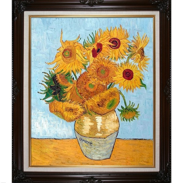 Vincent Van Gogh Sunflowers Hand Painted Framed Canvas Art