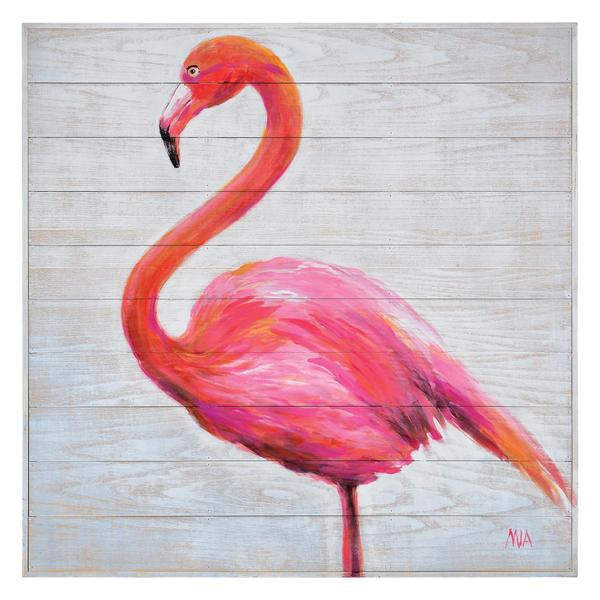 Renwil 'Pink Poise' Wall Decor