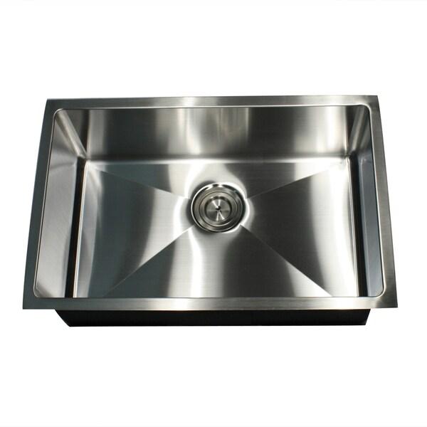 16-Gauge Undermount Small Radius 28 Inch Stainless Steel Kitchen Sink ...