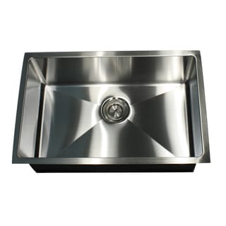 16-Gauge Undermount Small Radius 28 Inch Stainless Steel Kitchen Sink with Drain