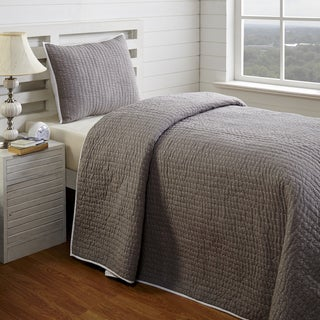 Zachy Grey Twin 2-piece Quilt Set