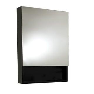 Fresca Small Espresso Bathroom Medicine Cabinet with Small Bottom Shelf