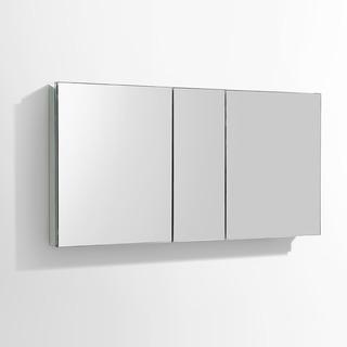 "Fresca 50"" Wide Bathroom Medicine Cabinet w/ Mirrors"