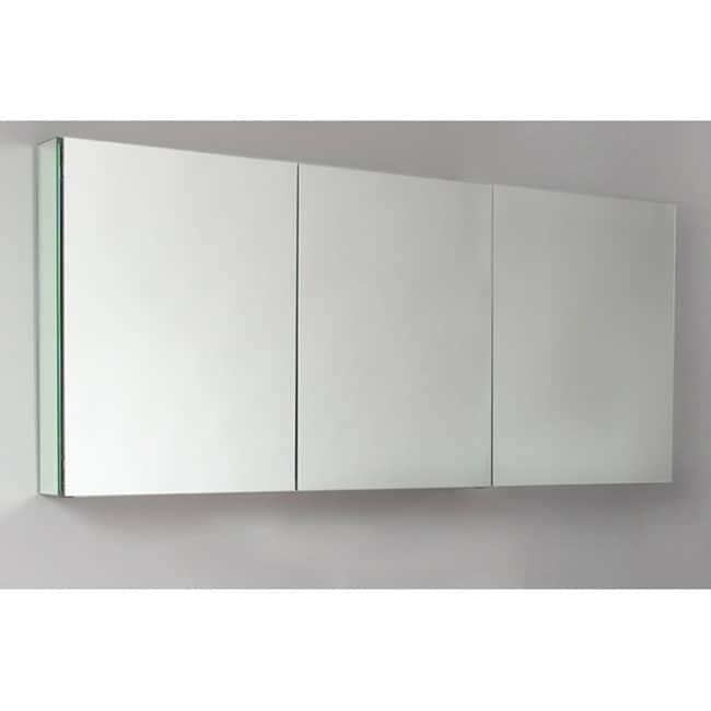 fresca 60 wide bathroom medicine cabinet w mirrors overstock