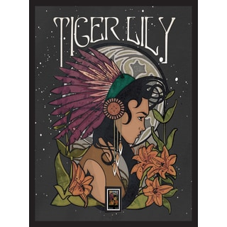 Tiger Lily Framed Wall Art with Postage Stamp