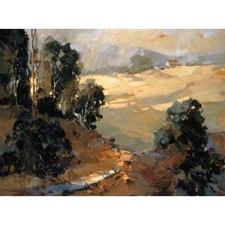 Ted Goerschner- Santa Ynez Valley Morning 39 x 28 Gallery Wrap Canvas