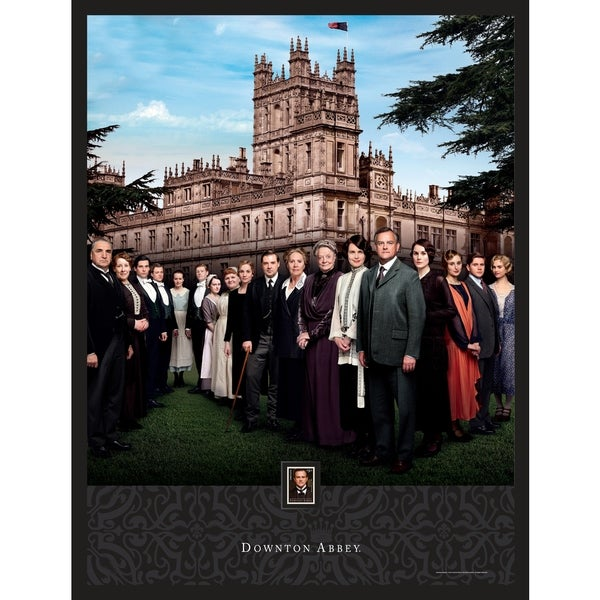 Downton Abbey Season 4 Framed Wall Art with Postage Stamp