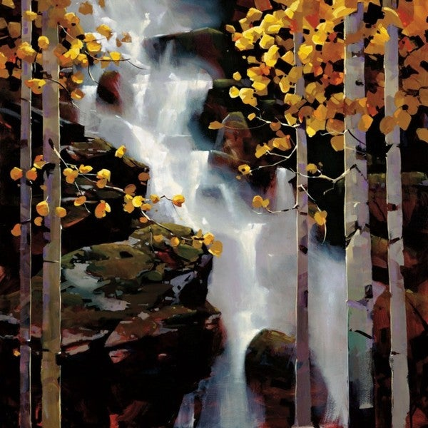 Michael O'Toole-Waterfall 36 x 36 Gallery Wrap Canvas