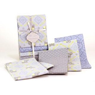 Nurture Imagination Elephant Jubilee 4-piece Cotton Receiving Blankets
