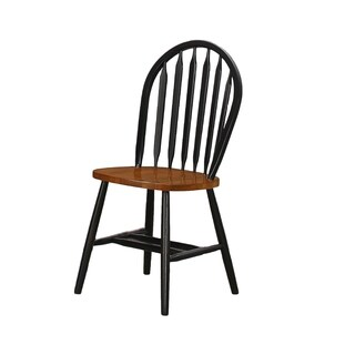 Black/mahogany Windsor back 2pk Chair