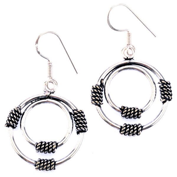 Silver Plated Coil Earrings by Mela Artisans