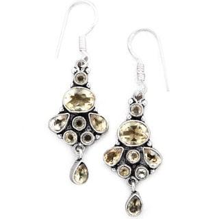 Eternal Essence Citrine Dangle Earrings by Mela Artisans
