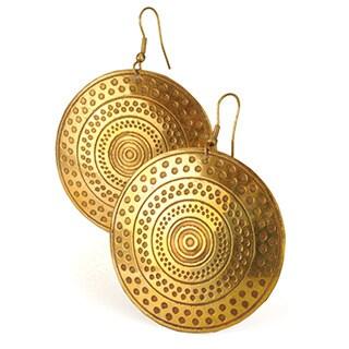 Sundial Earrings Disc Earrings by Mela Artisans
